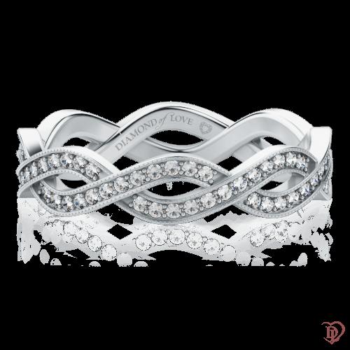 Кольцо в белом золоте со вставками: бриллианты 0000363
