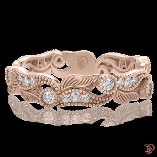 Кольцо в розовом золоте со вставками: бриллианты 0000387