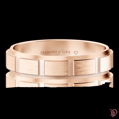 Обручальное кольцо в розовом золоте 0000427