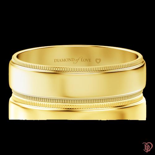 Обручальное кольцо в желтом золоте 0000464