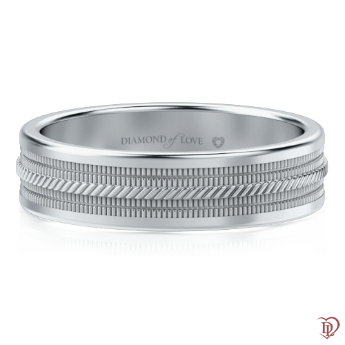 Обручальное кольцо в белом золоте 0000523