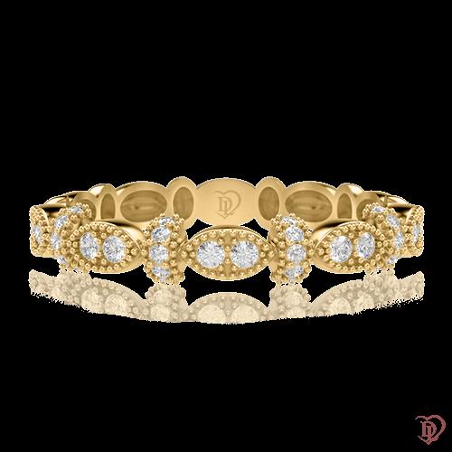 Обручальное кольцо в желтом золоте со вставками: бриллианты 0000644