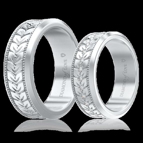 Обручальное кольцо в белом золоте 0000693