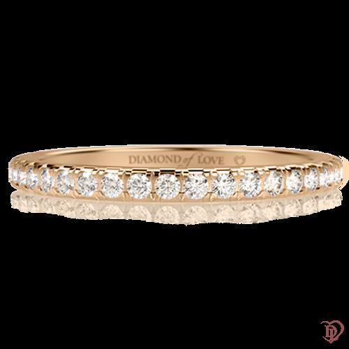 Обручальное кольцо в желтом золоте со вставками: бриллианты 0001254
