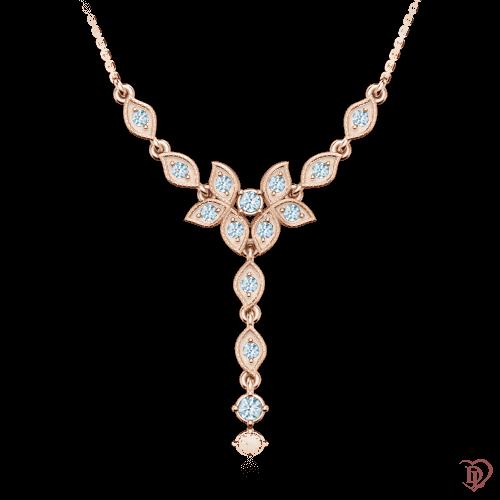 Колье в розовом золоте со вставками: бриллианты 0001307
