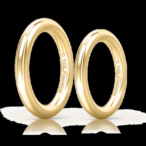 Обручальное кольцо в желтом золоте 0004124