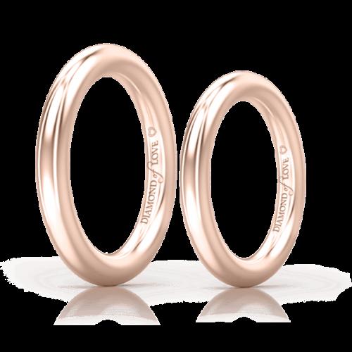 Обручальное кольцо в розовом золоте 0004127