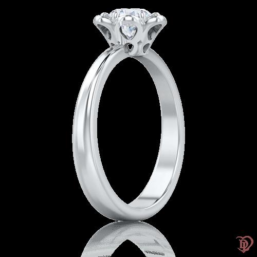Кольцо в белом золоте со вставками: бриллианты 0005763