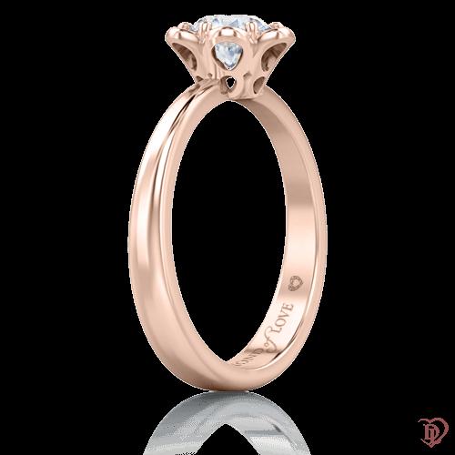 Кольцо в розовом золоте со вставками: бриллианты 0005767
