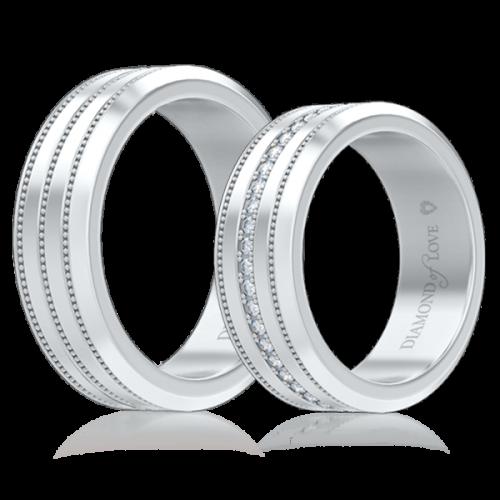 Обручальное кольцо в белом золоте 0007123