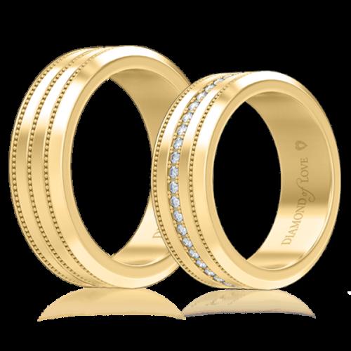 Обручальное кольцо в желтом золоте 0007124