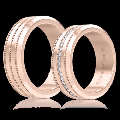 Обручальное кольцо в розовом золоте 0007127
