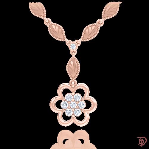 Колье в розовом золоте со вставками: сапфиры 0007917