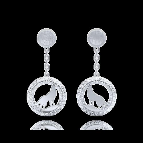 Серьги в белом золоте со вставками: бриллианты 0013273