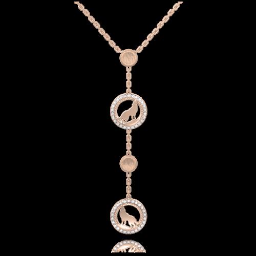 Подвес в розовом золоте со вставками: бриллианты 0013287