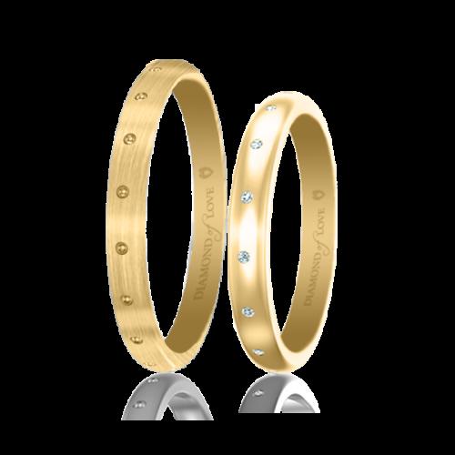 Обручальное кольцо в желтом золоте 0017474
