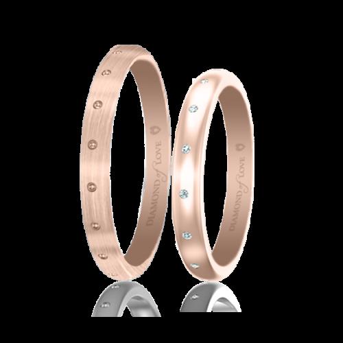 Обручальное кольцо в розовом золоте 0017477
