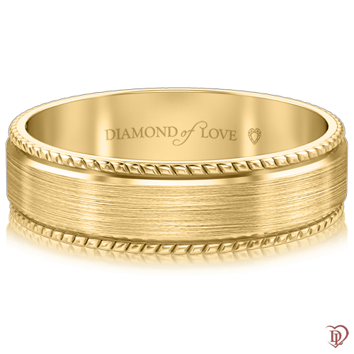 Обручальное кольцо в желтом золоте 0000414
