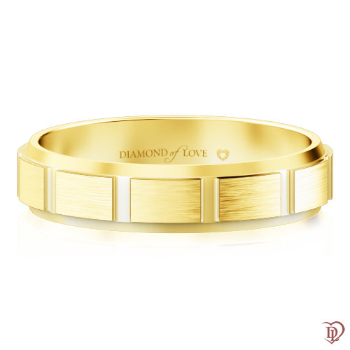 Обручка в жовтому золоті 0000424