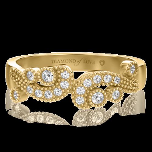 <p>Кольцо в желтом золоте со вставками: бриллианты</p>  0000504