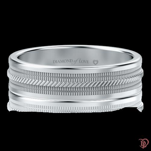 <p>Обручальное кольцо в белом золоте</p>  0000523