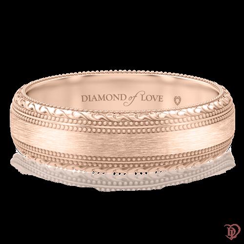 Обручка в розовому золоті 0000667