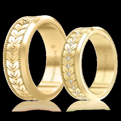 Обручка в жовтому золоті 0000694