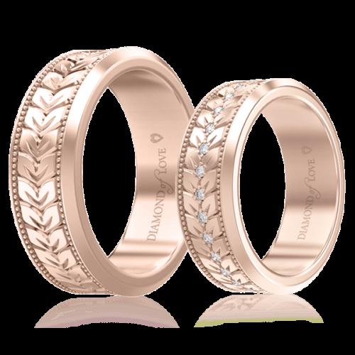 Обручальное кольцо в розовом золоте 0000697