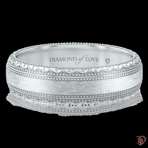 Обручальное кольцо в белом золоте 0000753