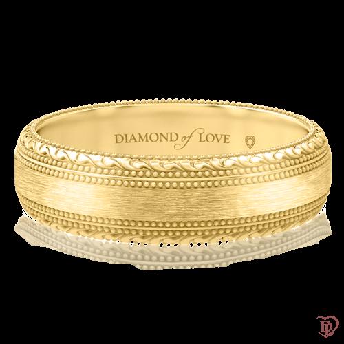 Обручальное кольцо в желтом золоте 0000754