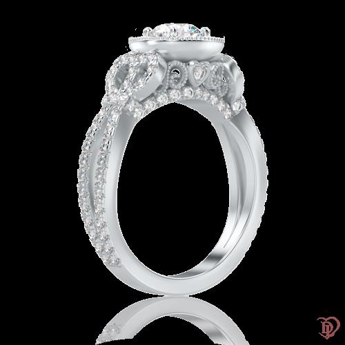 <p>Кольцо в белом золоте со вставками: бриллианты</p>  0000863