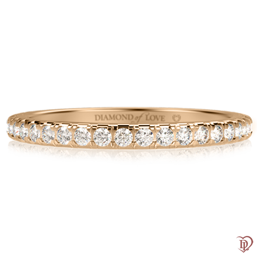 <p>Обручка в жовтому золоті зі вставками: діаманти</p>  0001254