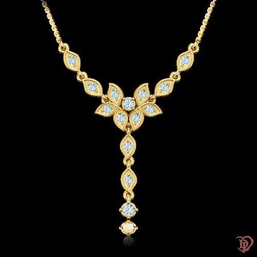 <p>Колье в желтом золоте со вставками: бриллианты</p>  0001304
