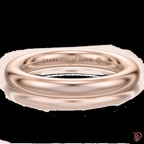 <p>Обручка в рожевому золоті</p>  0004117