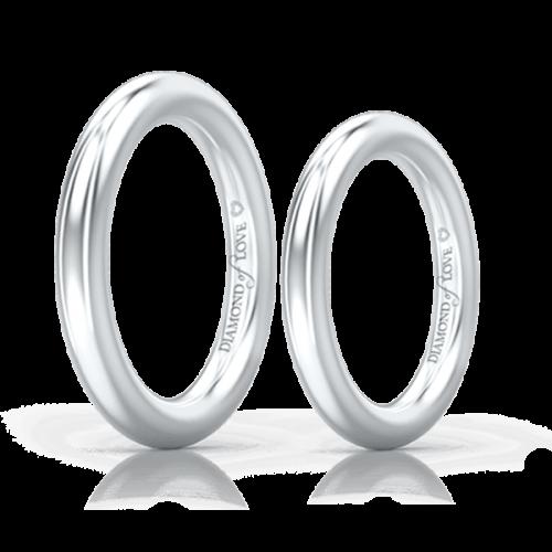 Обручальное кольцо в белом золоте 0004123