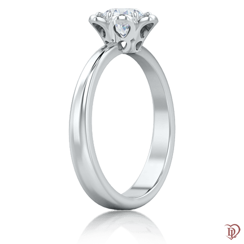 <p>Кольцо в белом золоте со вставками: бриллианты</p>  0005763
