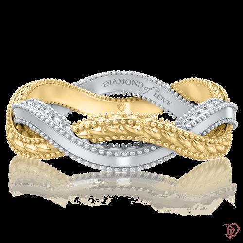 Обручальное кольцо в желтом золоте 0005804