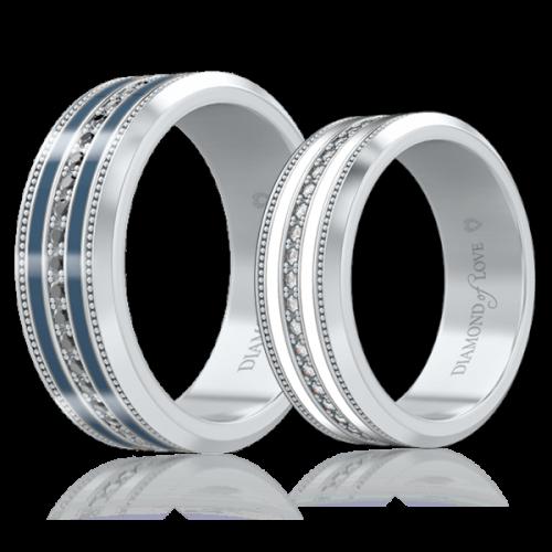 <p>Обручальное кольцо в белом золоте со вставками: бриллианты, эмаль</p>  <p>Кольцо обручальное с бриллиантами и драгоценной эмалью Тайна: Вдохновение, заключенное в оправу из белого золота - находка для мужчин, ценящих практичность. Сдержанно - роскошное свадебное кольцо сочетает в себе четкость форм и выразительную контрастность. Декор, мужской модели, ювелирной эмалью темного оттенка и черными бриллиантами, выбран не случайно. Такое цветовое решение символизирует мужское начало. Легко впишется как в деловой, так и в повседневный образ своего обладателя. Статусный аксессуар станет символом начала вашей супружеской жизни и вкладом в семейное наследие.</p>  0006353