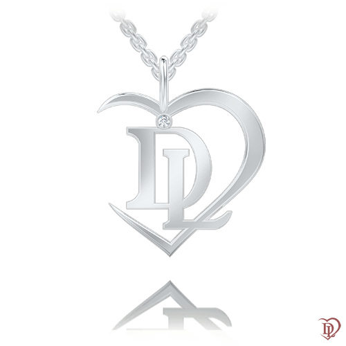 Підвіс в білому золоті зі вставками: діаманти 0007183