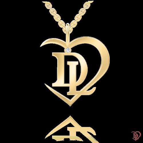 <p>Подвес в желтом золоте со вставками: бриллианты</p>  0007184