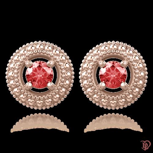 <p>Серьги в розовом золоте со вставками: рубины</p>  <p>Выполненные из нежно-розового золота небольшие серьги-гвоздики с рубином Эдем: Роса, станут отличным дополнением к множеству нарядов. Рубин - камень страстных и решительных натур. Именно таким людям он приносит счастье и успех в любых начинаниях. Серьги просто созданы для женщин, ценящих свою индивидуальность и предпочитающих действовать решительно. Отличный вариант для повседневной носки. Позвольте себе быть каждый день разной!</p>  0009927