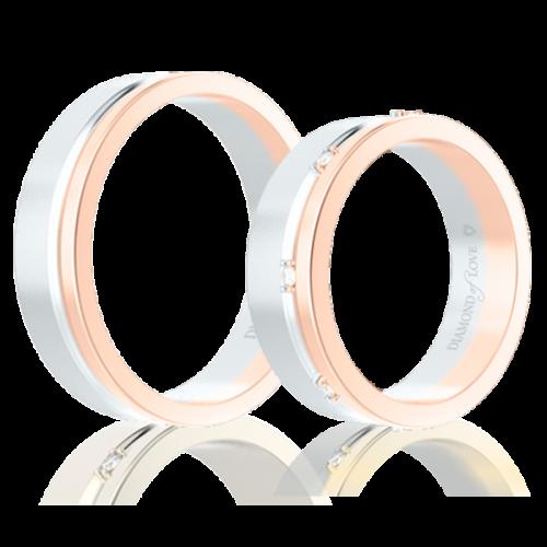 <p>Обручальное кольцо в розовом золоте</p>  0014327