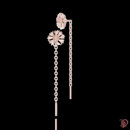<p>Сережки в рожевому золоті</p>  <p>Золоті сережки-протяжки Ти файна !: Волошка лагідна завоювали серця тисячі модниць по всьому світу. Ультрамодні сережки-ланцюжки з рожевого золота, виконані в мінімалістичному дизайні, додадуть жіночності і легкості повсякденного образу. Спадаючий золотий ланцюжок, що повторює кожен рух своєї господині, задасть ритм яскравому дню. Придивіться до дорогоцінних волошок, це ідеальний подарунок для будь-якого випадку. Золоті сережки неодмінно призведуть в трепетний захват Вашу красуню!</p>  0015287