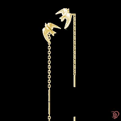 <p>Серьги в желтом золоте</p>  0016174