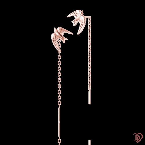 <p>Сережки в рожевому золоті</p>  0016177