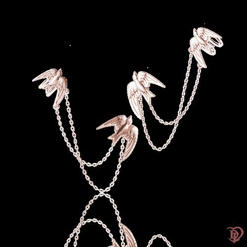 <p>Сережки в рожевому золоті</p>  0016207