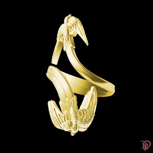 <p>Каблучка в жовтому золоті</p>  0016214