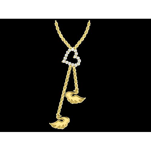 <p>Кольє в жовтому золоті зі вставками: діаманти</p>  <p>Золоте кольє Вірність: Відродження - звернення до вічних канонів жіночої привабливості. Головний елемент прикраси - граціозні і таємничі лебеді. Елегантне сусідство поетичних мотивів і витончених форм перегукуються з головним символом любові - серцем, покритим діамантовим розсипом. Дорогоцінне обрамлення з жовтого золота дозволяє діамантам кращим чином продемонструвати свою виняткову красу і мінливу гру світла. Оригінальна авторська прикраса дає можливість будь-якій жінці підкреслити свою індивідуальність, а чоловікам розповісти про свої почуття, не сказавши при цьому ні слова.</p>  0021134