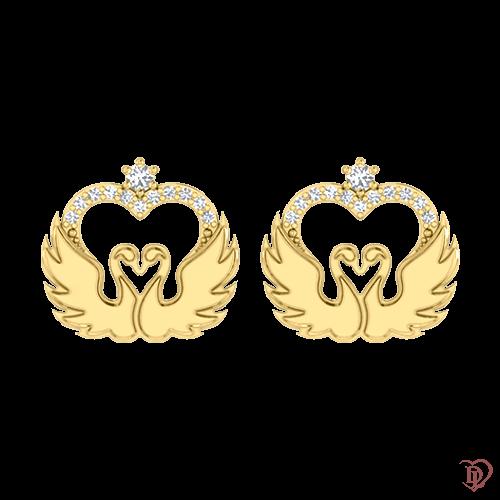 <p>Серьги в желтом золоте со вставками: бриллианты</p>  <p>Серьги - гвоздики в желтом золоте с россыпью бриллиантов коллекции Верность: Возрождение, созданы для тех, кто ценит свою индивидуальность. Плавные золотые линии и сияющие бриллианты притягивают взгляды, создают неповторимый образ, дарят жизнерадостное настроение. Чувственно и нежно золотые серьги расскажут о тонком вкусе своей обладательницы.</p>  0021144