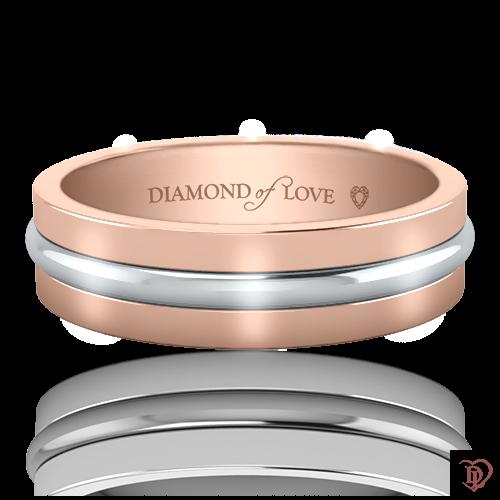 <p>Обручальное кольцо в розовом золоте</p>  0021217